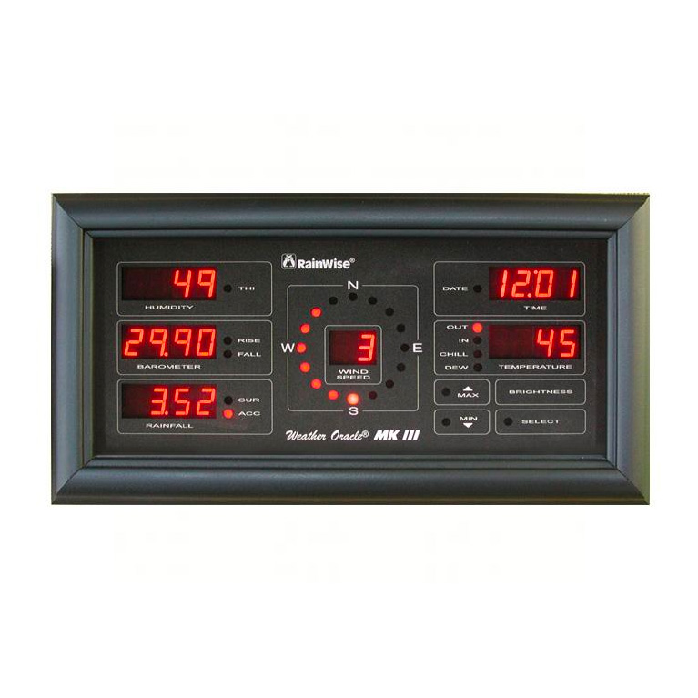Weather Oracle MK III Long Range Display - Black Frame